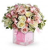 Flower Bouquets: Baby Girl's First Block