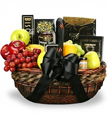 Food & Fruit Baskets: Our Condolences Fruit and Gourmet Basket